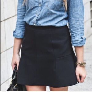 🆕 NWT J. Crew Factory Black Flared Skirt